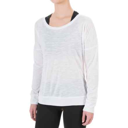 Balance Collection Impulse Shirt - Scoop Neck, Long Sleeve (For Women) in White - Closeouts