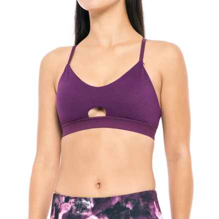 Balance Collection Jordyn Sports Bra - Medium Impact, Removable Cups (For Women) in Deep Purple - Closeouts