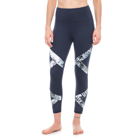Balance Collection Lana Capri Leggings (For Women) in Peacoat/Aruba Blue