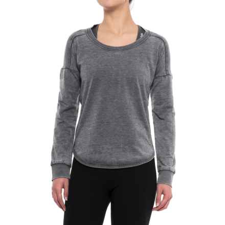 Balance Collection Leanne Peached Fleece Shirt - Long Sleeve (For Women) in Charcoal W Black - Closeouts