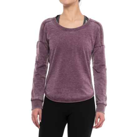 Balance Collection Leanne Peached Fleece Shirt - Long Sleeve (For Women) in Wild Berry - Closeouts