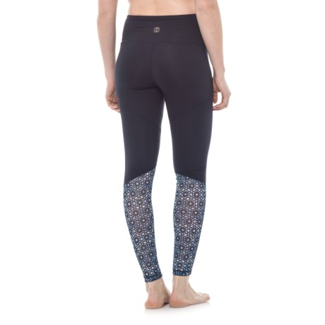 Balance Collection Natasha Mesh Leggings - High Waist (For Women) in Midnight Blue