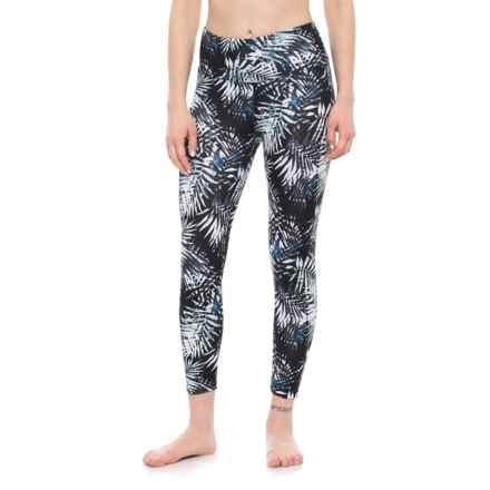 Balance Collection Printed High-Waist Capri Leggings (For Women) in Black/Aruba Blue - Closeouts
