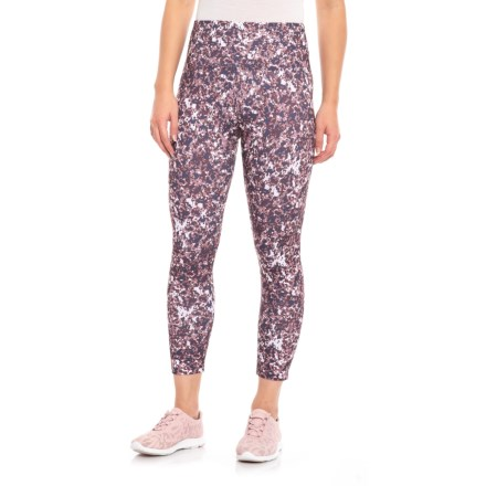 4d5e761266f32 womens yoga pants · Balance Collection Printed High-Waist Capri Leggings  (For Women) in Graystone Marble Camo