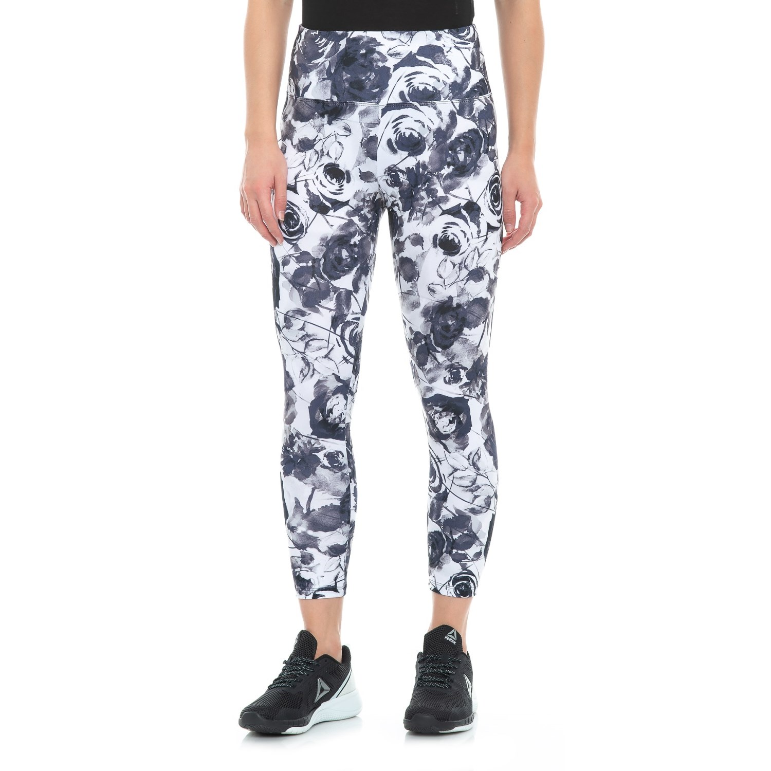 7fa0b515df Balance Collection Printed High-Waist Capri Leggings (For Women) in  Greystone Faded Roses ...