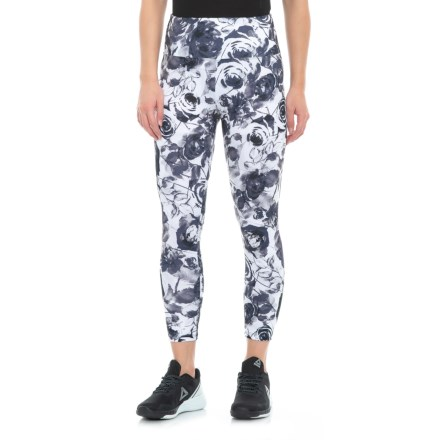 907e0f166119e Balance Collection Printed High-Waist Capri Leggings (For Women) in  Greystone Faded Roses