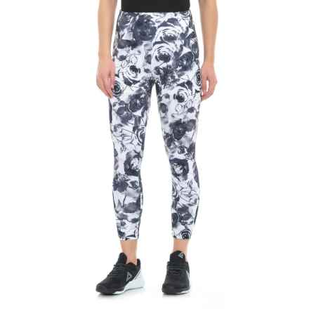 Balance Collection Printed High-Waist Capri Leggings (For Women) in Greystone Faded Roses - Closeouts