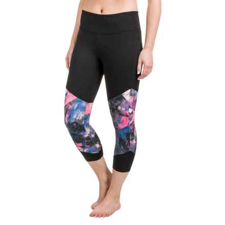 Balance Collection Push Printed Capri Leggings (For Women) in Geo Glouds - Closeouts