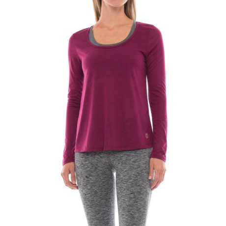 Balance Collection Reflection Back-Cutout Shirt - Long Sleeve (For Women) in Magenta