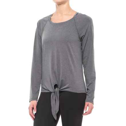 Balance Collection Renee Tie-Front Shirt - Long Sleeve (For Women) in Heather Charcoal - Closeouts