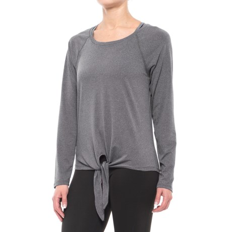Balance Collection Renee Tie-Front Shirt - Long Sleeve (For Women) in Heather Charcoal