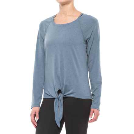 Balance Collection Renee Tie-Front Shirt - Long Sleeve (For Women) in Heather Majolica Blue - Closeouts