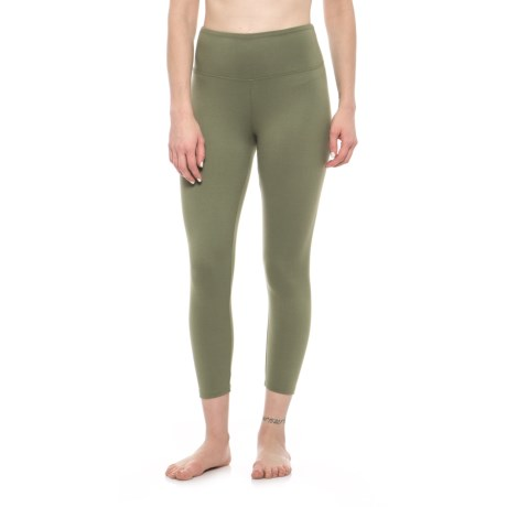 Balance Collection Solid High-Waist Capri Leggings (For Women)