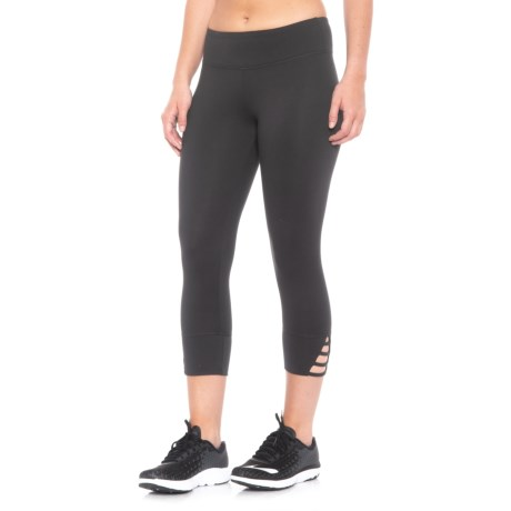 Balance Collection Strappy Cutout Capris (For Women) in Black