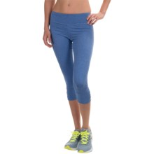 Balance Collection Strappy Cutout Capris (For Women) in Heather Blue Bolt - Closeouts