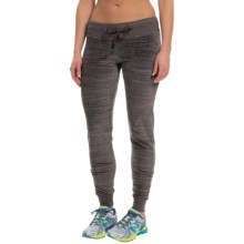 Balance Collection Textured Velour Joggers (For Women) in Heather Grey Speckle - Closeouts