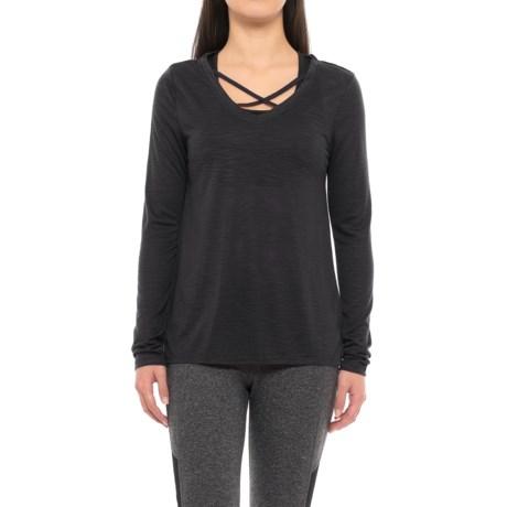 Balance Criss-Cross Layering Shirt - Long Sleeve (For Women) in Black