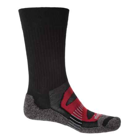 Balega Blister Resist Socks - Crew (For Men and Women) in Black/Red - Closeouts