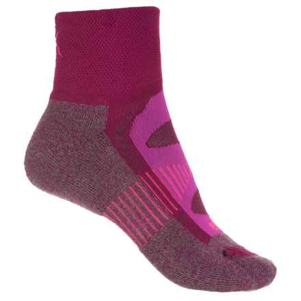 Balega Blister-Resistant Socks - Quarter Crew (For Women) in Fuschia - Closeouts
