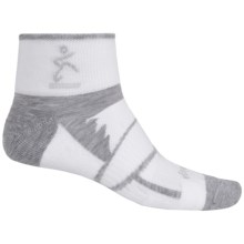 Balega Enduro 2 Running Socks - Ankle (For Men and Women) in White/Grey - Closeouts