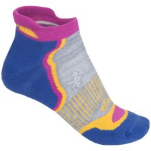 Balega Enduro 5 No-Show Running Socks - Below the Ankle (For Women) in Azure/Yellow/Berry - Closeouts