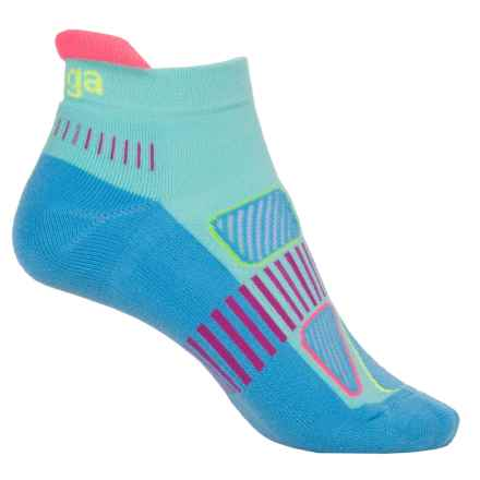 Balega Enduro 5 No-Show Running Socks - Below the Ankle (For Women) in Sky Blue Multi - Closeouts