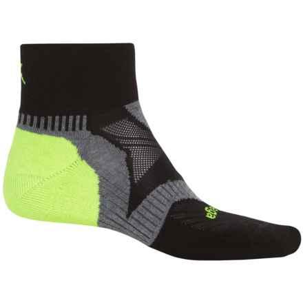 Balega Enduro V-Tech Running Socks - Ankle (For Men and Women) in Black/Grey/Neon - Closeouts