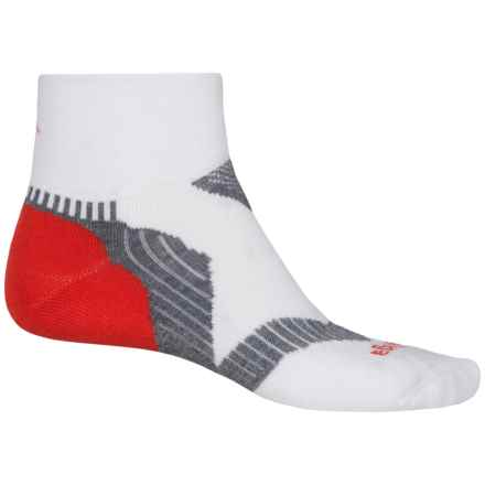 Balega Enduro V-Tech Running Socks - Ankle (For Men and Women) in White/Red/Grey - Closeouts