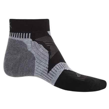 Balega Enduro V-Tech Running Socks - Quarter Crew (For Men and Women) in Black/Grey - Closeouts