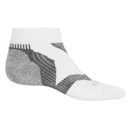 Balega Enduro V-Tech Running Socks - Quarter Crew (For Men and Women) in White/Grey - Closeouts