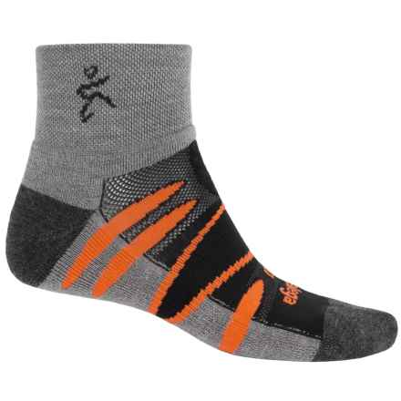 Balega Enduro V-Tech Socks - Merino Wool, Quarter Crew (For Men and Women) in Black/Orange - Closeouts