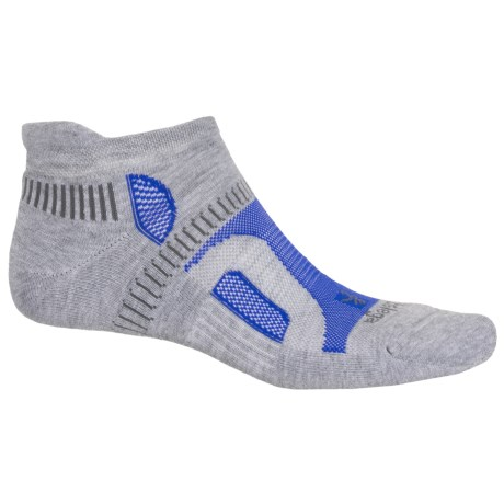 Balega Hidden Contour Running Socks - Below the Ankle (For Men and Women) in Light Grey
