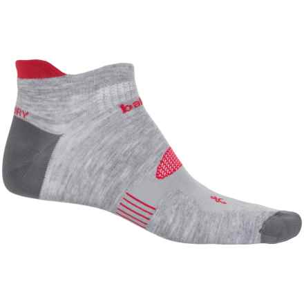 Balega Hidden Dry 2 Running Socks - Below the Ankle (For Men and Women) in Grey/Red - Closeouts