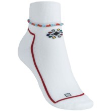 Balega Lesedi Socks - Lightweight (For Women) in White/Red - Closeouts