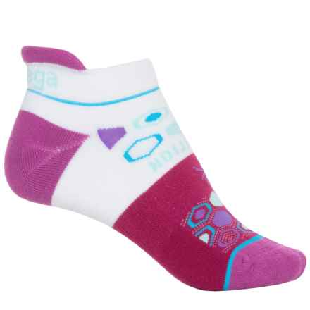 Balega Live with Intention Running Socks - Below the Ankle (For Women) in Wildberry/White - Closeouts
