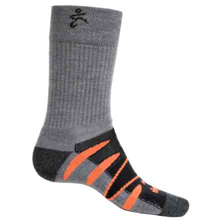Balega Moh-Rino V-Tech Enduro Socks - Crew (For Men and Women) in Black/Orange - Closeouts