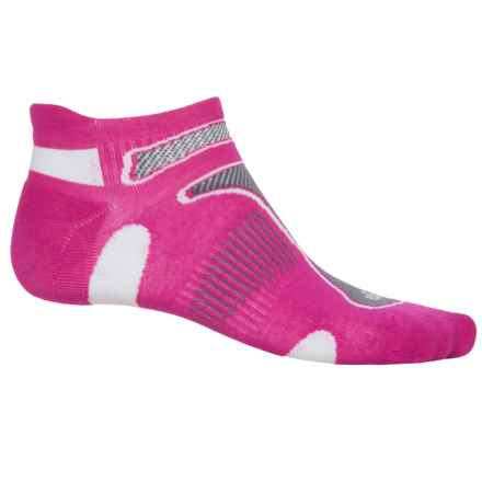 Balega No-Show Running Socks - Below the Ankle (For Men and Women) in Pink/Coal/White - Closeouts
