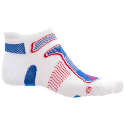 Balega No-Show Running Socks - Below the Ankle (For Men and Women) in Red/White/Blue - Closeouts