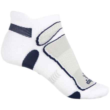 Balega No-Show Running Socks - Below the Ankle (For Men and Women) in White/Navy - Closeouts