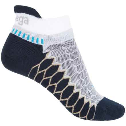 Balega Silver Running Socks - Below the Ankle (For Men and Women) in White/Ink - Closeouts