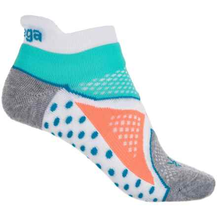 Balega V-Tech Enduro No-Show Socks - Below the Ankle (For Women) in White/Aqua - Closeouts