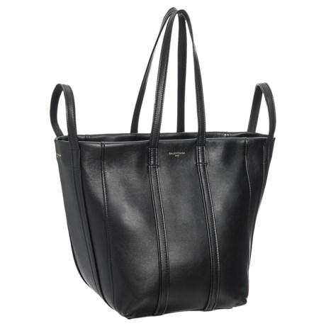 Balenciaga Laundry Cabas Handbag - Leather (For Women) in Noir