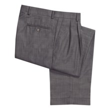 Ballin Dover Multi-Check Dress Pants - Pleated, Cuffed (For Men) in Blue Grey - Closeouts