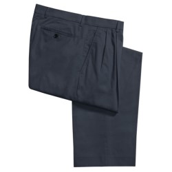 Ballin Sahara Twill Pants - Pleated Front (For Men) in Navy