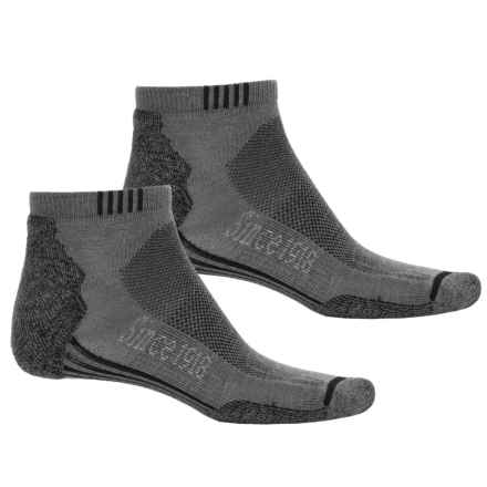 Ballston Endurance Outdoor Ankle Socks - 2-Pack, CoolMax® (For Men and Women) in Light Gray/Black - Closeouts