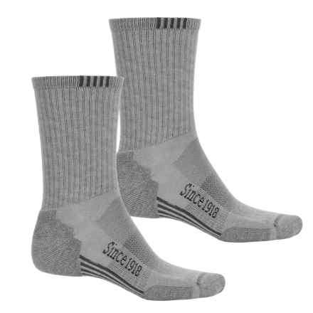 Ballston Endurance Outdoor Socks - 2-Pack, CoolMax®, Crew (For Men and Women) in Mid Gray/Gray - Closeouts