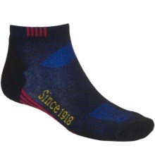 Ballston Endurance Outdoor Socks - CoolMax®, Ankle (For Men and Women) in Black/Royal - Closeouts