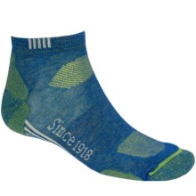 Ballston Endurance Outdoor Socks - CoolMax®, Ankle (For Men and Women) in Royal/Gecko - Closeouts