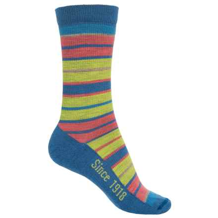 Ballston Folklore City Stripe Socks - Merino Wool, Crew (For Women) in Blue - Overstock