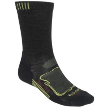 Ballston High-Performance Socks - Merino Wool, Crew (For Men) in Black/Green/Garnet - Closeouts